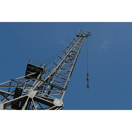 LAMINATED POSTER High Crane Hook Jib Sky Blue Industrial Lift Poster Print 24 x 36