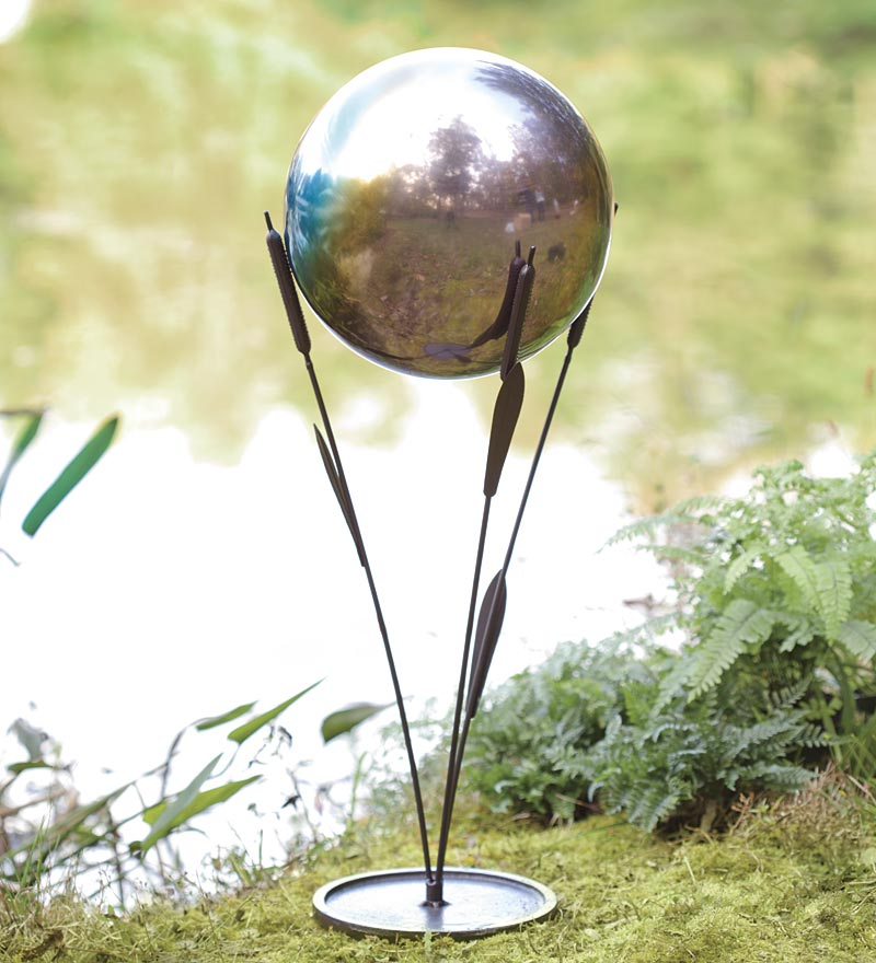 Rainbow Steel Gazing Ball by Problem Solvers