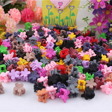 - Fascigirl 50Pcs Assorted Color Baby Girls Cute Mini Flower Hair Claws Hair Clips Hair Accessories for Kids Child Children