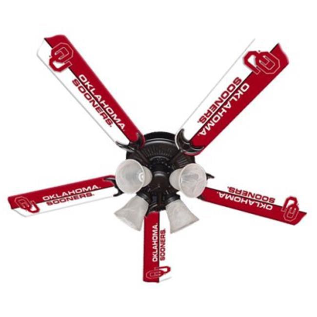 Ceiling Fan Designers 7995-OKL New NCAA OKLAHOMA SOONERS 52 in. Ceiling Fan