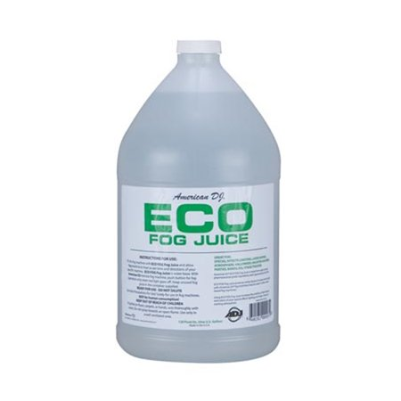 American DJ Eco-Fog Smoke Haze Fog Machine Fluid Juice, 1 Gallon F4L-ECO-1