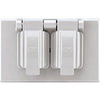 S1962W-SP Duplex Receptacle Outlet Cover