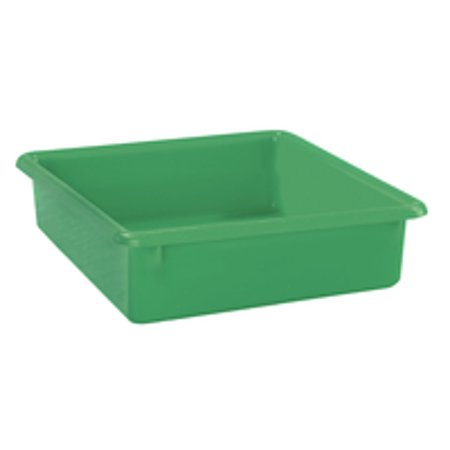 School Smart Flat Storage Container, 13 x 10-1/2 x 2-7/8 Inches, Green - Green Flats