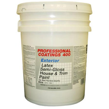 True Value Mfg Company Acp60 5g Pcb White Semi Gloss Latex Exterior House And Trim Paint 5 Gal