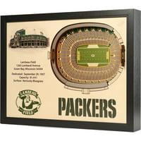 "Green Bay Packers Lambeau Field 25.5"" x 19.5"" Stadium Views Wall Art - No Size"