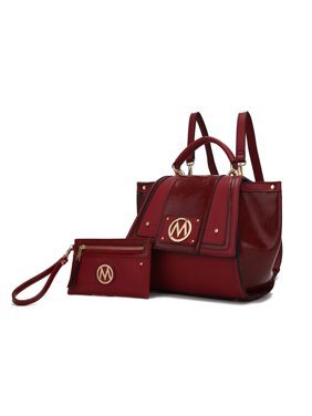 MKF Collection Jessie Satchel/ Backpack with Wristlet Pouch by Mia K.