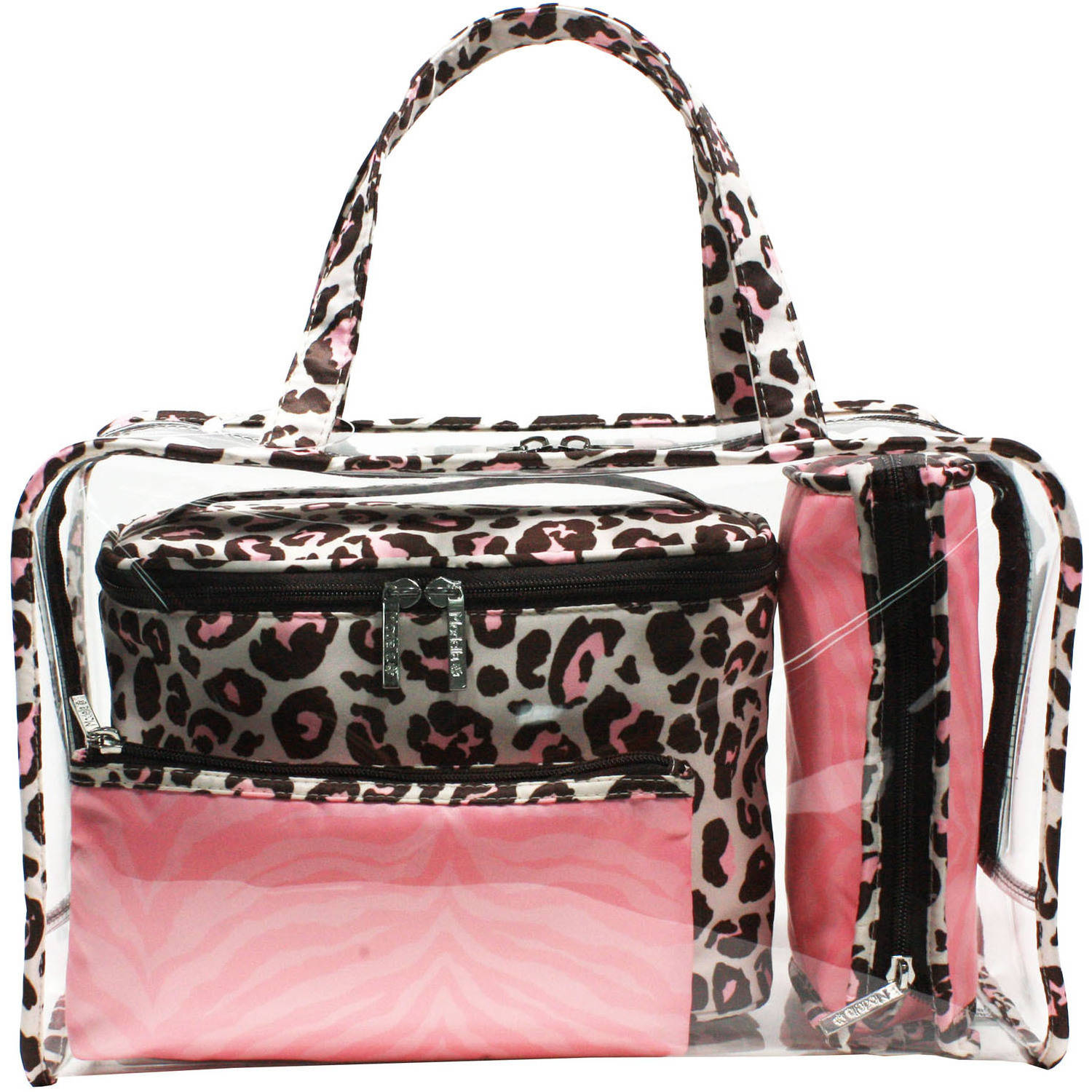 Modella Cheetah Weekender Set, 4 pc