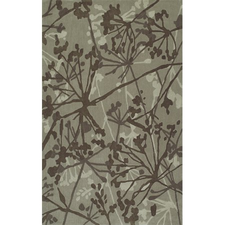 Dalyn Santino Area Rugs So54 Contemporary Taupe Leaves Stems Vines Branches Rug