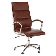 Bush Business Furniture Studio C High Back Leather Executive Office Chair