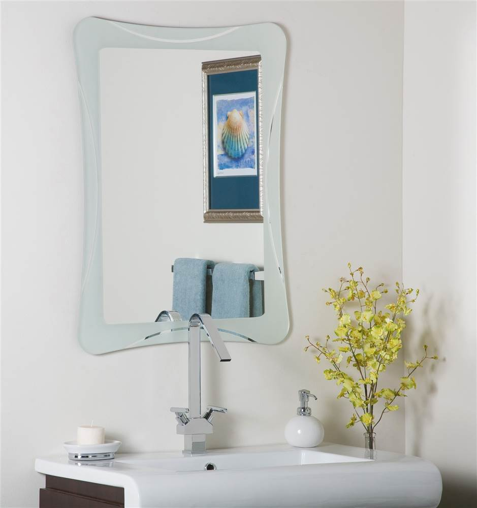 Butterfly Frameless Bathroom Mirror by Decor Wonderland of US