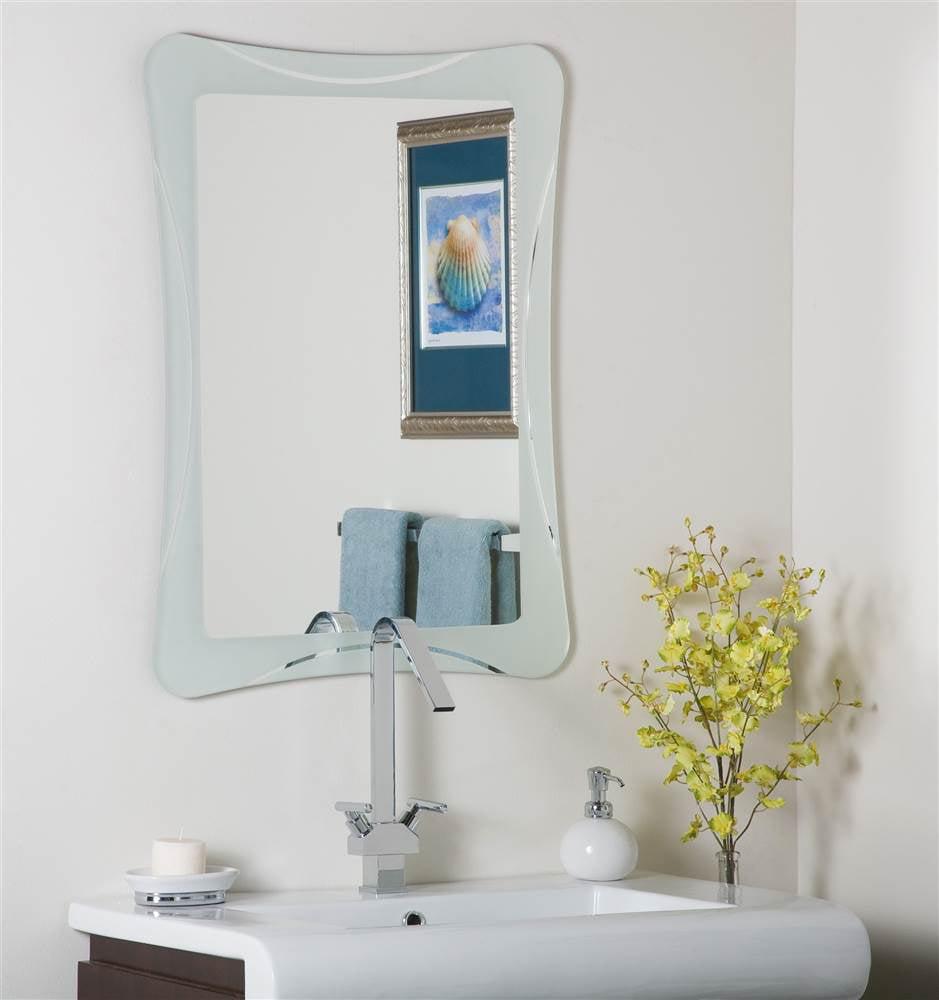 Butterfly Frameless Bathroom Mirror