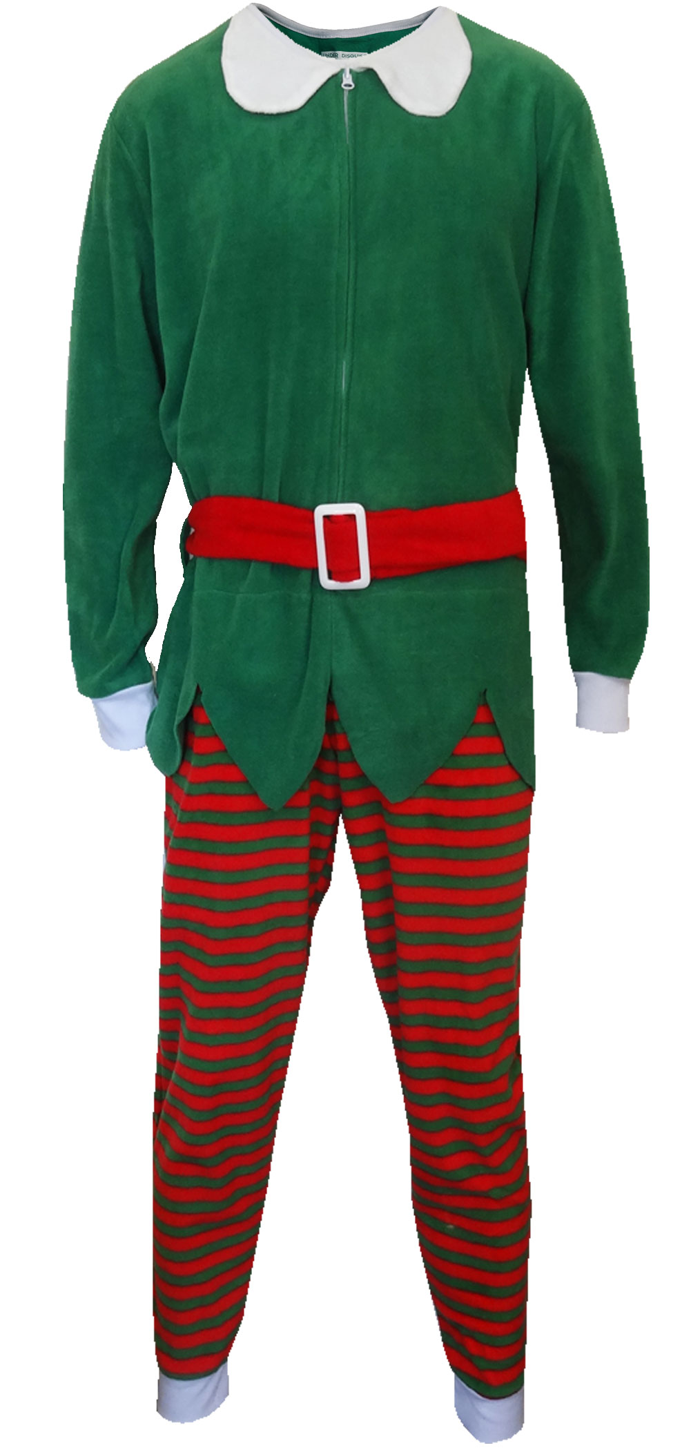 Red And Green Christmas Elf One Piece Pajama - Walmart.com