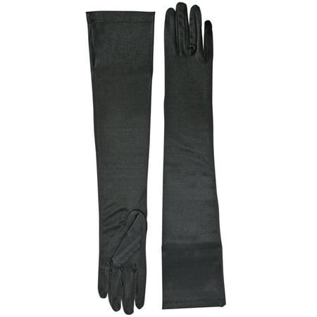 Black Long 3/4 Arm Length Evening Opera Gloves](Evening Gloves)