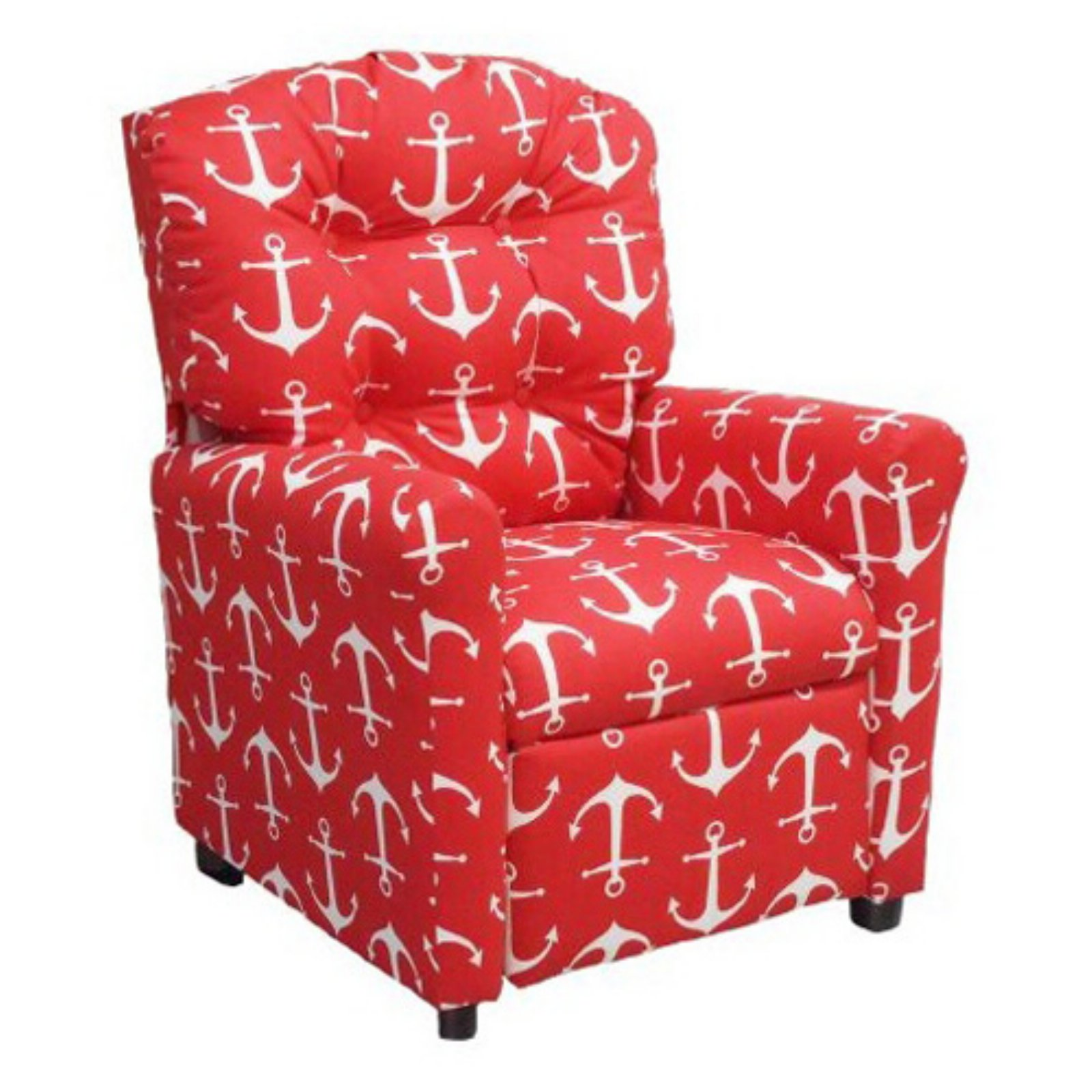 Brazil Furniture 4-Button Back Child Recliner - Red Anchor
