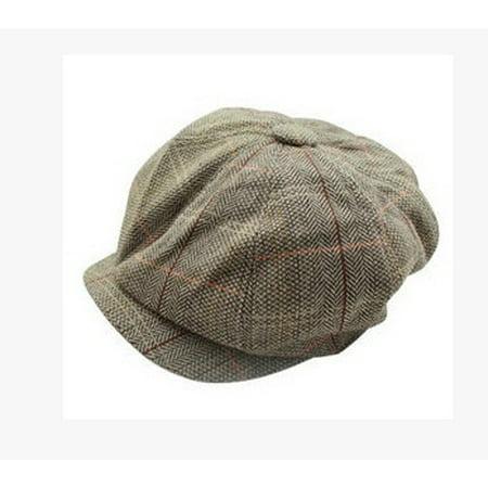 1214c45ca Mens Vintage Cabbie Newsboy Cap Casual Beret Baker Gatsby Golf Driving Flat  Hat