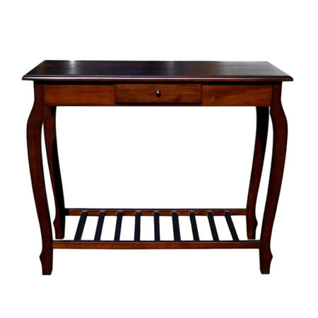 Handcrafted Solid Carolina Mahogany Decorative Livingroom Console Table