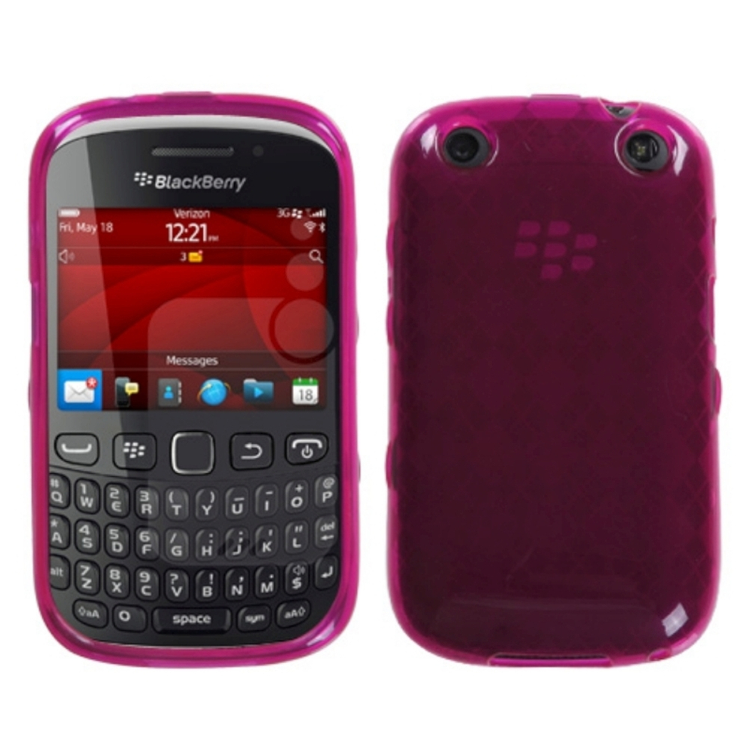 Insten Hot Pink Argyle Candy Skin Case For RIM BLACKBERRY 9310 Curve