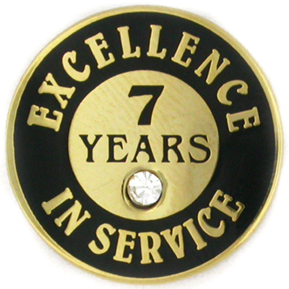 Excellence In Service Pin - 7 Years