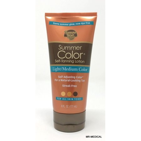 (Banana Boat Summer Color Self-Tanning Lotion Light/Medium Color - 6 Ounces)