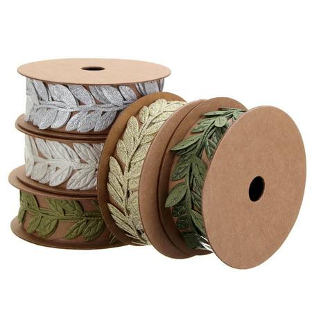 1 Meter Leaf Ribbon Satin Vine Leaves Garlands Lace Trim Sewing Craft Decoration Craft Sewing Lace Trim
