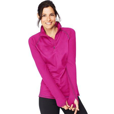 Hanes Sport And #153 Womens Performance Fleece Quarter Zip Sweatshirt. O9325 - image 1 of 1