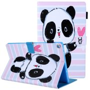 "Allytech Fire HD 10 Case (10.1"" Display, 7th/5th Generation, 2017/2015 Released), Slim Fit Corner Protective Auto Sleep Wake Protective Case Smart Cover for Amazon Kindle Fire HD 10, Cute Panda"