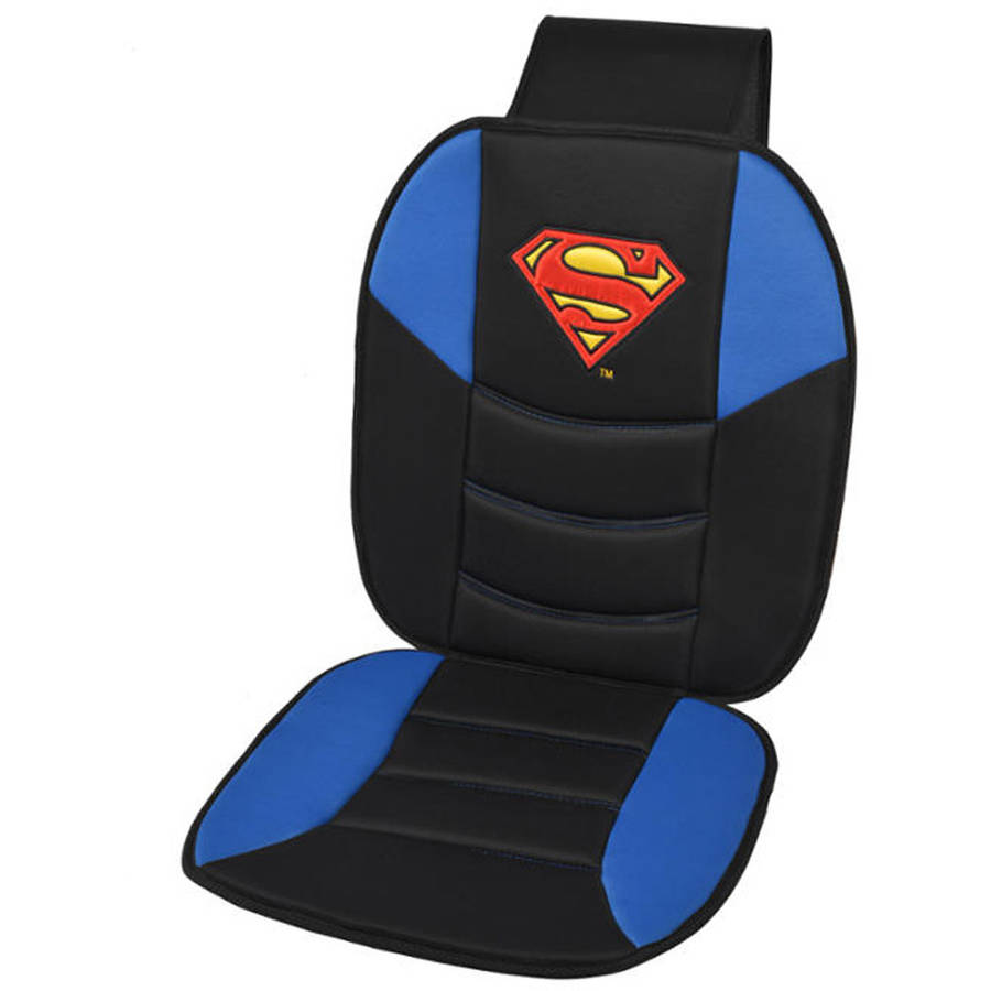 Superman Car Seat Cushion, Padded Comfort Support for Auto and Home, Seat Covers (Single)