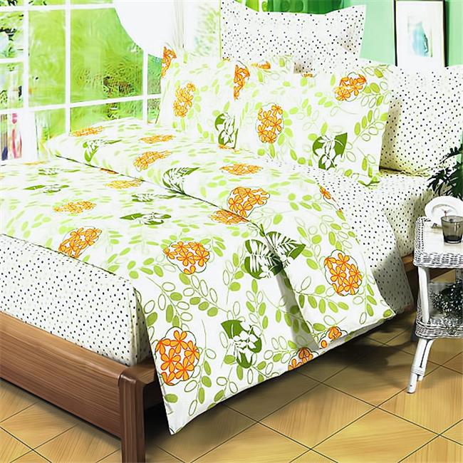 DDX09-1/CFR01-1 Summer Leaf 4 Piece Twin Comforter Set