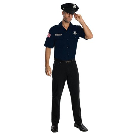 DARK BLUE POLICE OFFICER ADULT MENS COSTUME