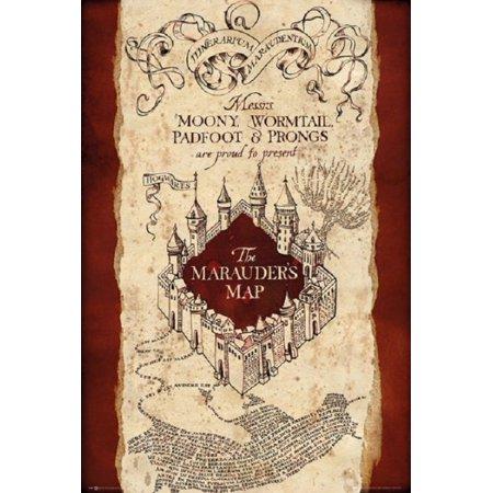 Harry Potter Marauders Map Poster Poster Print - Walmart.com