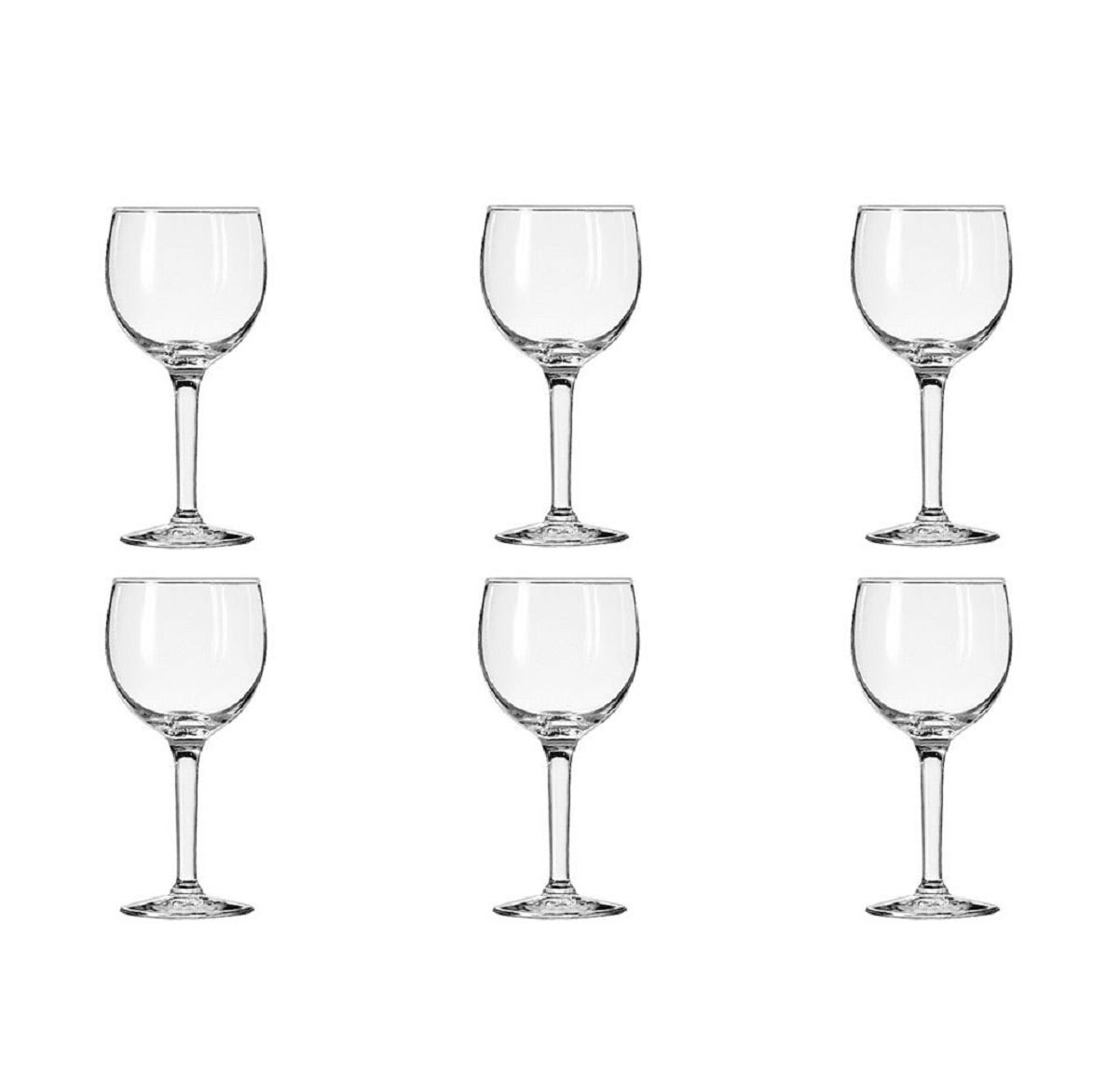6 Libbey Citation Round Red White Wine Glasses 6.5oz Set Lot Bulk 8469 Bar Home by