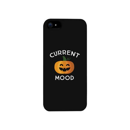Pumpkin Current Mood Black Phone Case](Halloween Phone)