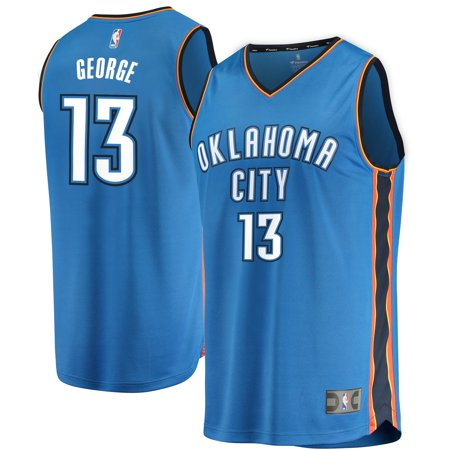Paul George Oklahoma City Thunder Fanatics Branded Youth Fast Break Replica Jersey Blue - Icon Edition