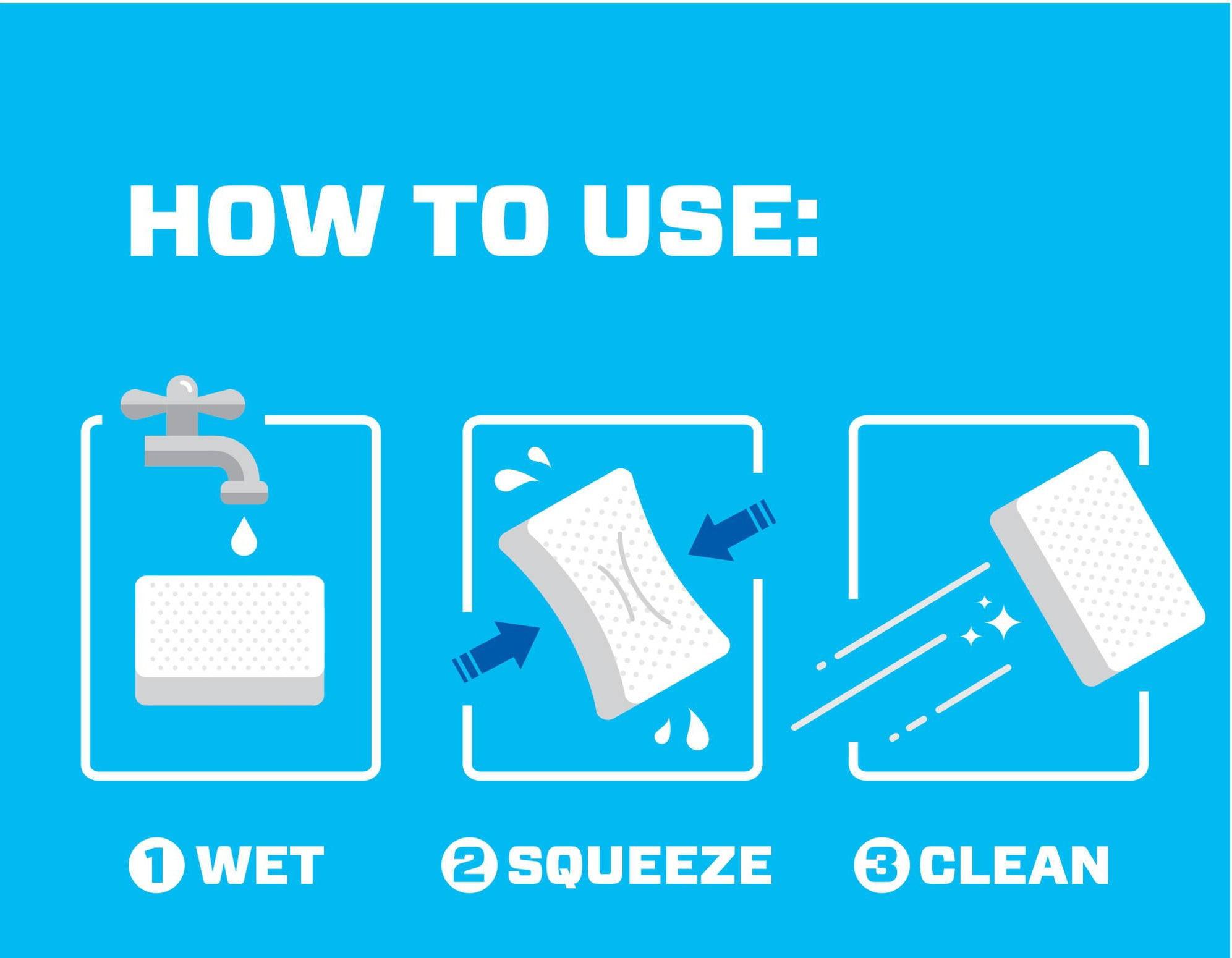 MOOMOO Magic Cleaning Eraser Sponge - Melamine Foam - 40 Pack ...
