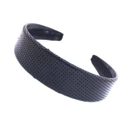 Net Vinyl Headband - CARAVAN® WIDE HEADBAND COVERED WITH BLACK NET FABRIC A DESIGN THAT IS APPROPRIATE
