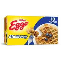 Kellogg's Eggo, Frozen Waffles, Blueberry, Easy Breakfast, 10 Ct, 12.3 Oz