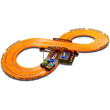 Hot Wheels Battery Operated 9.3' Slot Track (Mario Slot Car Race Track Sets)