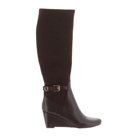 75bab024c76 Isaac Mizrahi Live! - Isaac Mizrahi Leather Stretch Fabric Wedge Boots  A258597 - Walmart.com