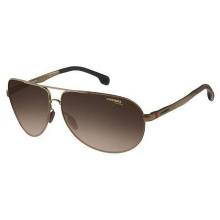Carrera Men's Ca8023s Aviator Sunglasses, Matte Brown/Brown Gradient Polarized, 65 (Carrera Sunglasses Sale)