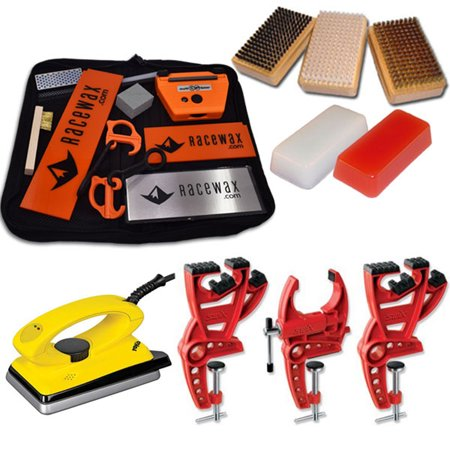 Ski Tune+ Race Kit with 3 Piece Vise, Iron, 3 Brushes Tools