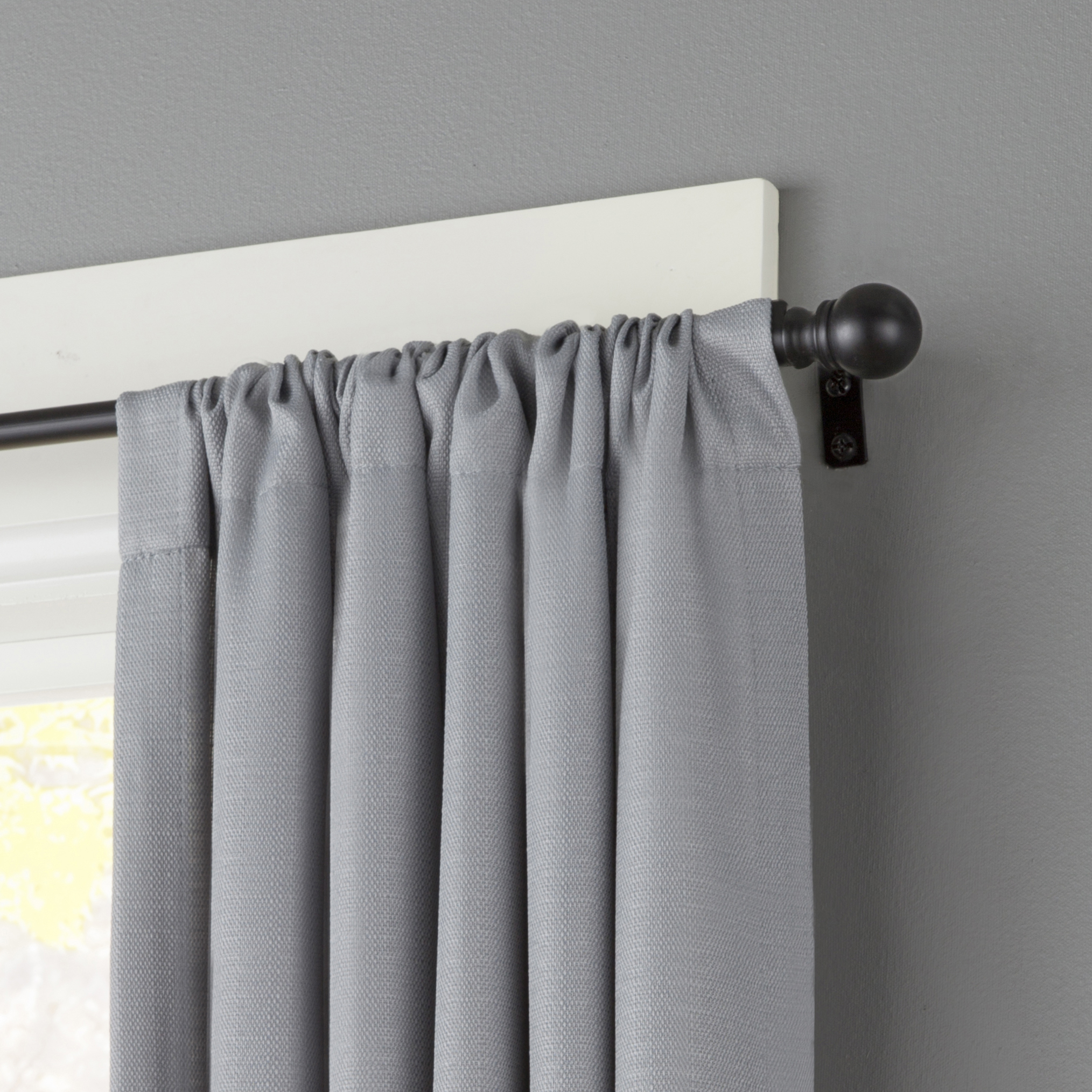 Kenney Davenport 1 2 Pee Cafe Decorative Window Curtain Rod 28 48 Matte Black