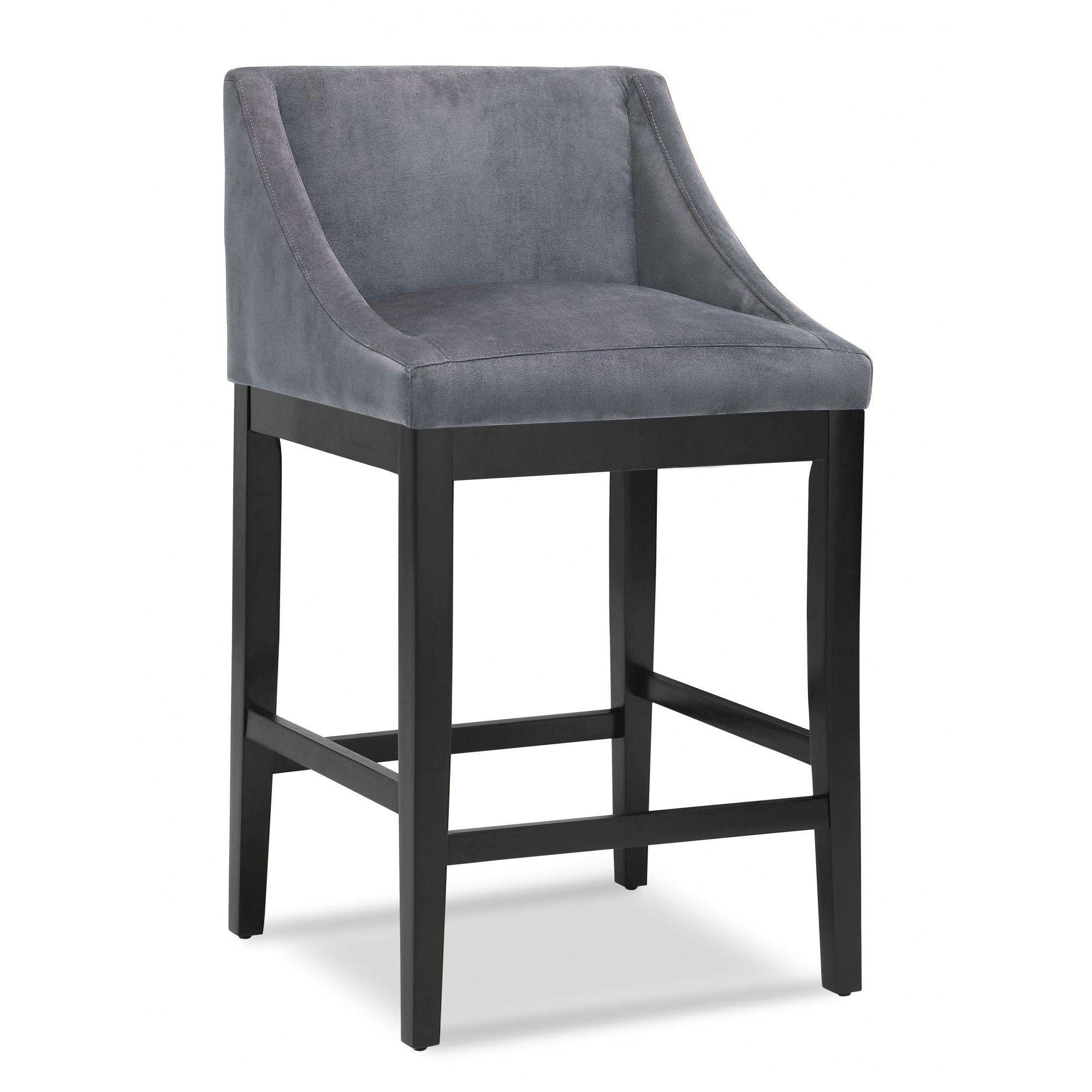"DHI Oxford Swoop Back Upholstered 30"" Stool, Multiple Colors"