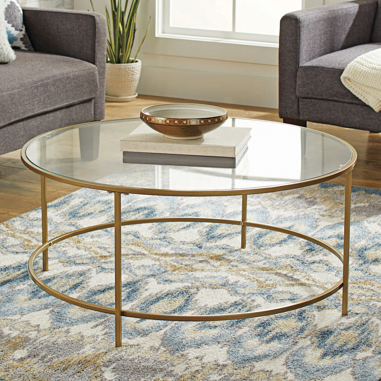 Ordinaire Better Homes U0026 Gardens Nola Coffee Table, Gold Finish   Walmart.com
