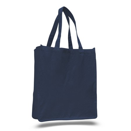 Canvas Shopper Tote Bag for Grocery Shopping, Beach, Yoga