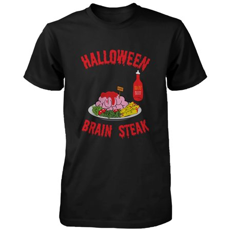 Halloween Brain Steak for Zombie Men's Shirt Funny Tshirt for Horror Night Funny Shirt