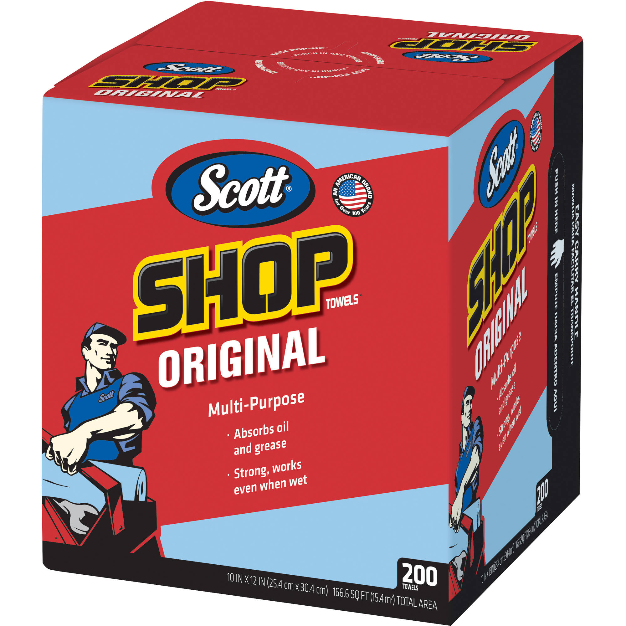 Scott Shop Towels in a Box, 200 Count