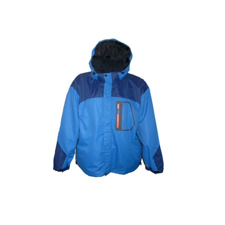 Pulse/Iceburg Mens 3in1 Ski Jacket Coat Blue/Orange