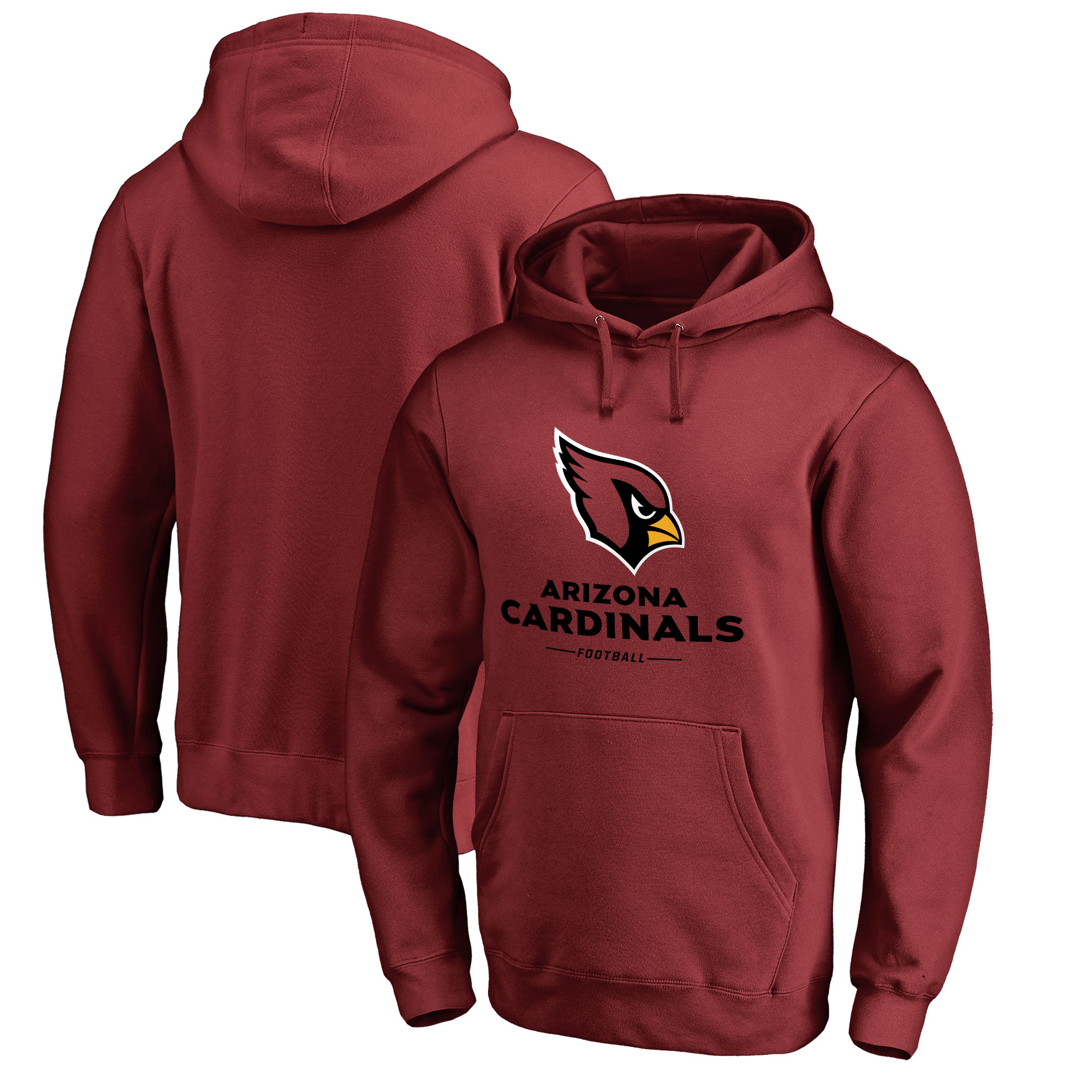 Arizona Cardinals Pro Line by Fanatics Branded Team Lockup Pullover Hoodie - Cardinal