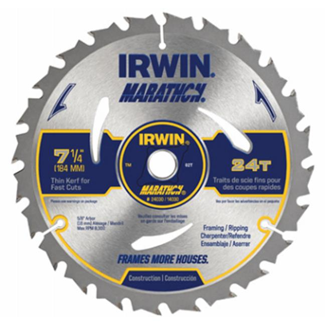 Irwin Industrial Tool Co 1873887 7. 25 inch 24T Carb Blade