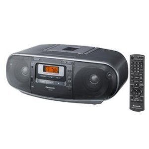 Panasonic RX-D55GC-K Boombox High Power Portable Stereo AM  FM Radio, MP3 CD , Tape Recorder with USB & Music... by VCT